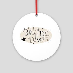 Baking Diva [brown] Ornament (Round)